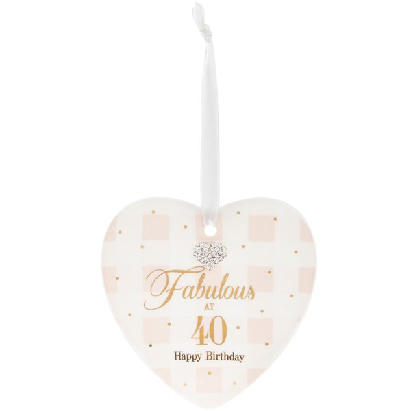 MAD DOTS 40TH HEART PLAQUE