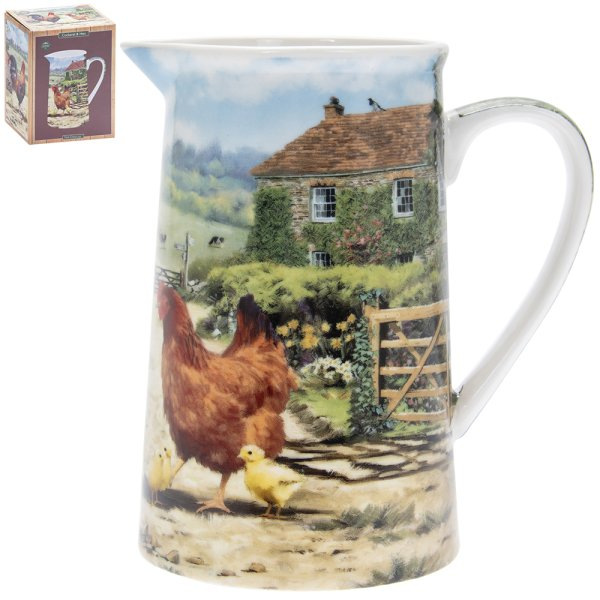 COCKEREL & HEN JUG
