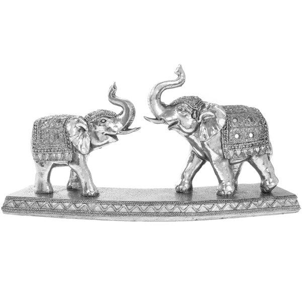 SILVER ART ELEPHANTS 2