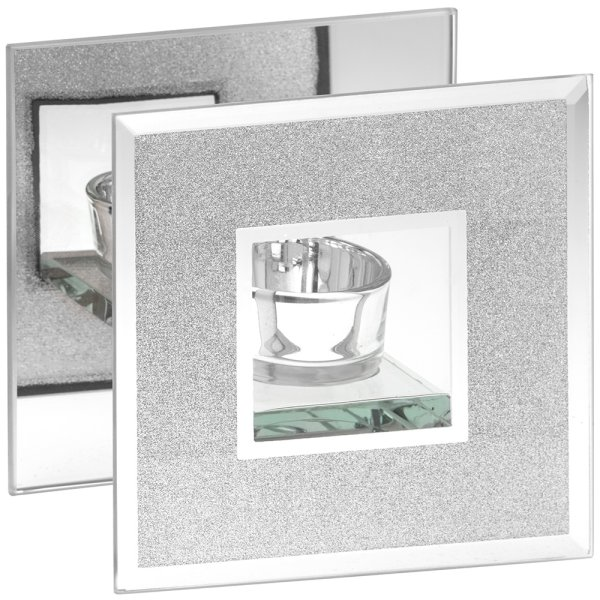 MIRROR GLIT TLIGHT HOLDER