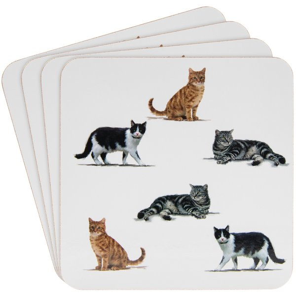 CATS COASTERS SET OF 4