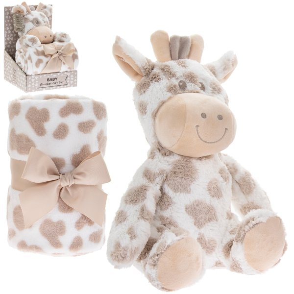 GIRAFFE BLANKET & SOFT TOY
