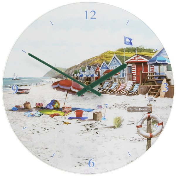 SANDY BAY GLASS CLOCK