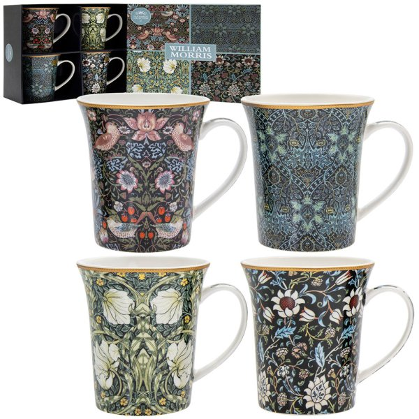 WILLIAM MORRIS MUGS SET OF 4