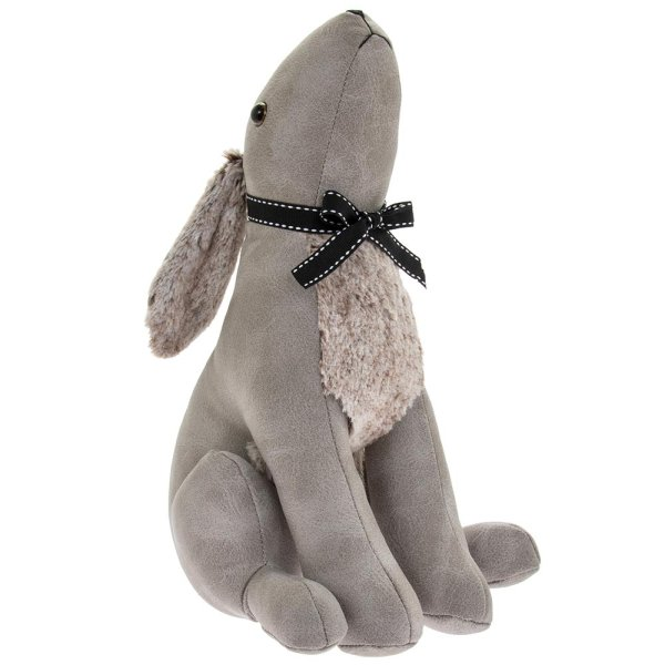 GREY HARE DOORSTOP