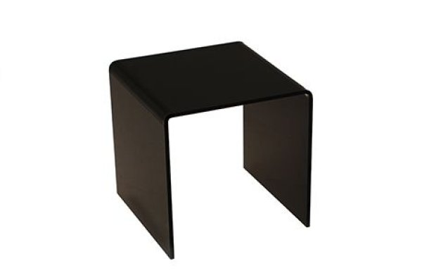 "ACRYLIC STAND BLACK 4""X4""X4"""