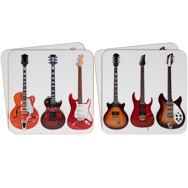 GUITARS COASTERS SET 4