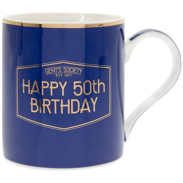 GENT'S SOCIETY HAPPY 50TH MUG