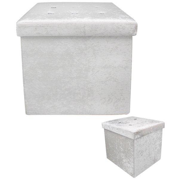 WHITE VELVET FOLDING BOX
