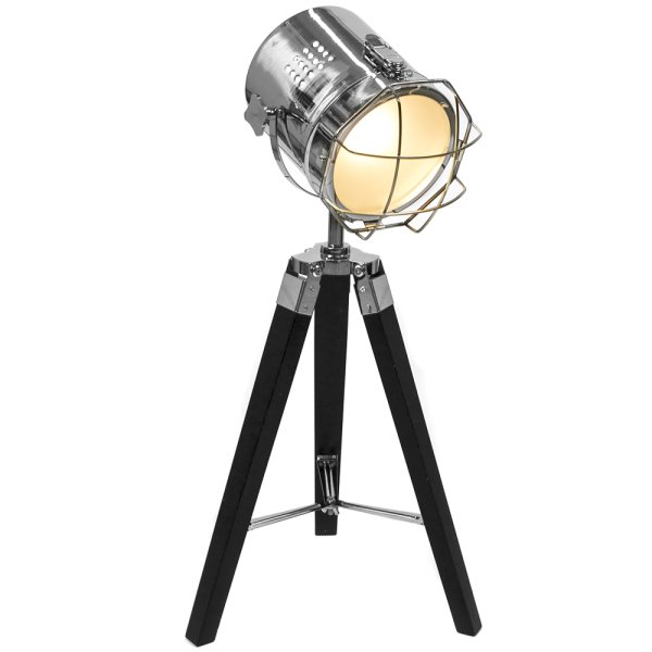 HOLLYWOOD TRIPOD T/LAMP BLACK