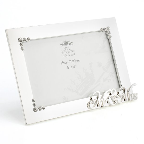 SILVER PLATED MR&MRS FRAME