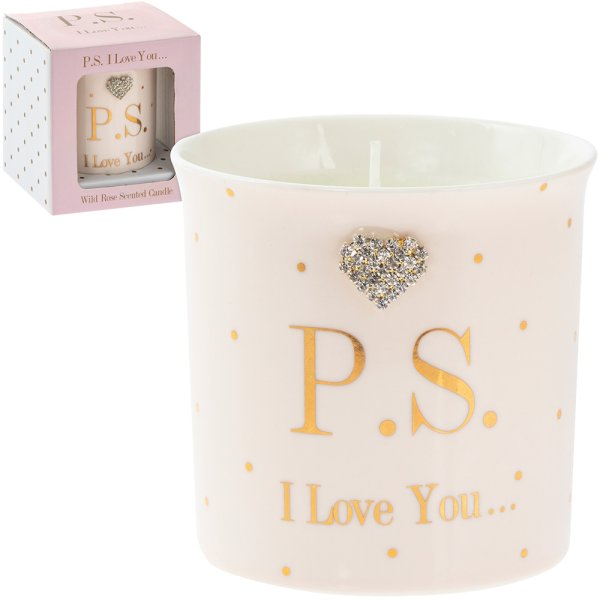 MAD DOTS PS I LOVE YOU CANDLE