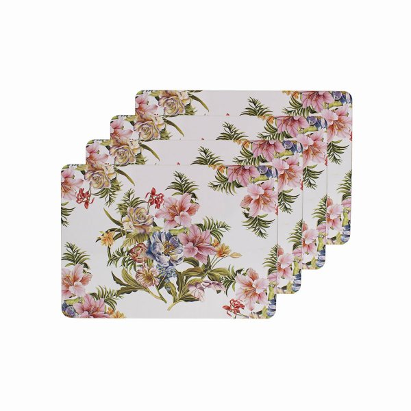 LILY ROSE PLACEMATS SET OF 4
