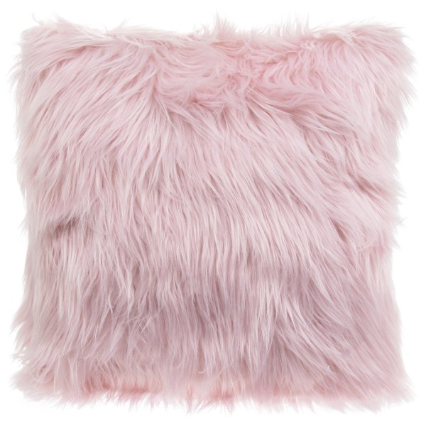 FURRY CUSHION PINK