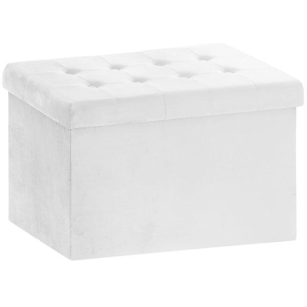 VELVET FOLDING BOX WHITE LARGE
