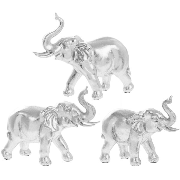 SILVER ART ELEPHANT FAMILY