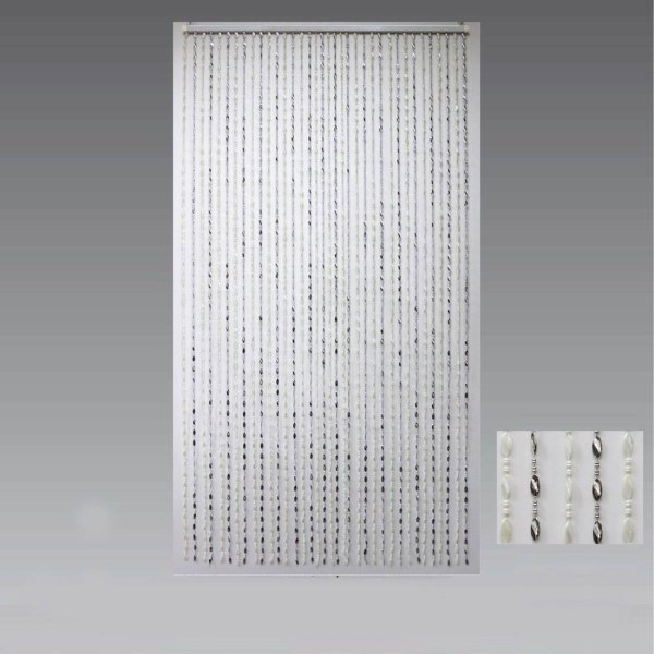BEAD CURTAIN SILVER & WHITE