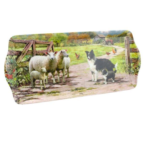 COLLIE & SHEEP TRAY MEDIUM