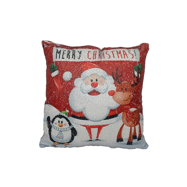SEQUIN CUSHION MERRY CHRISTMAS