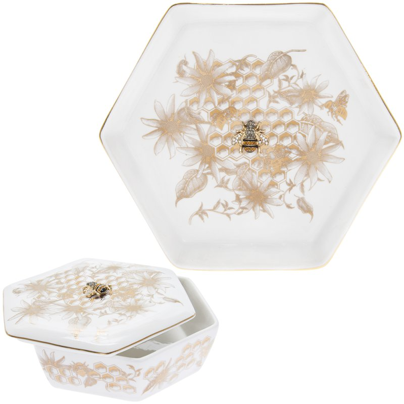 HONEYCOMB BEES TRINKET GOLD