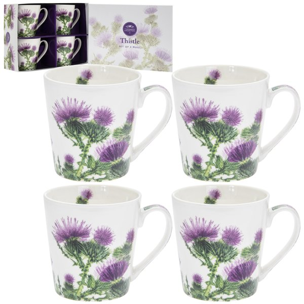 THISTLE MUGS SET OF 4