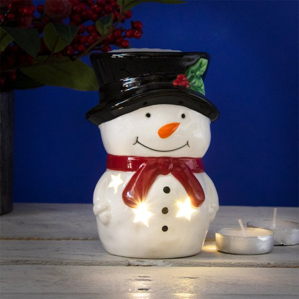 SNOWMAN WAX/OIL WARMER