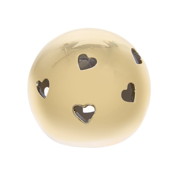 GOLD HEART LED BALL M