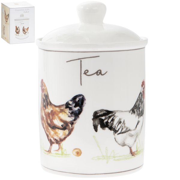 CHICKENS TEA CANISTER