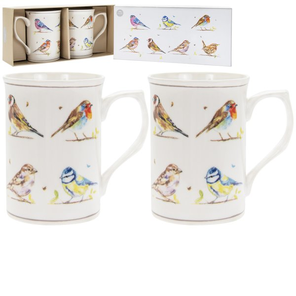 COUNTRY LIFE BIRDS MUGS S2