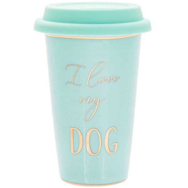 LETS PARTY DOG TRAVEL MUG