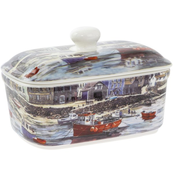 THE OLD HARBOUR BUTTER DISH