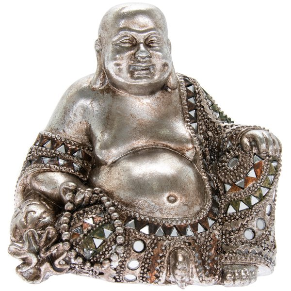 SILVER ART HAPPY BUDDHA