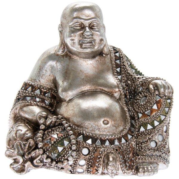 SILVER ART HAPPY BUDDHA