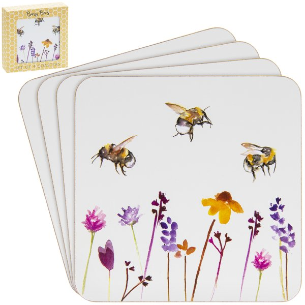 BUSY BEES COASTERS S/4