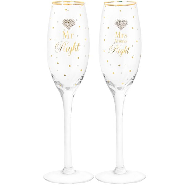MAD DOTS MR & MRS RIGHT FLUTES