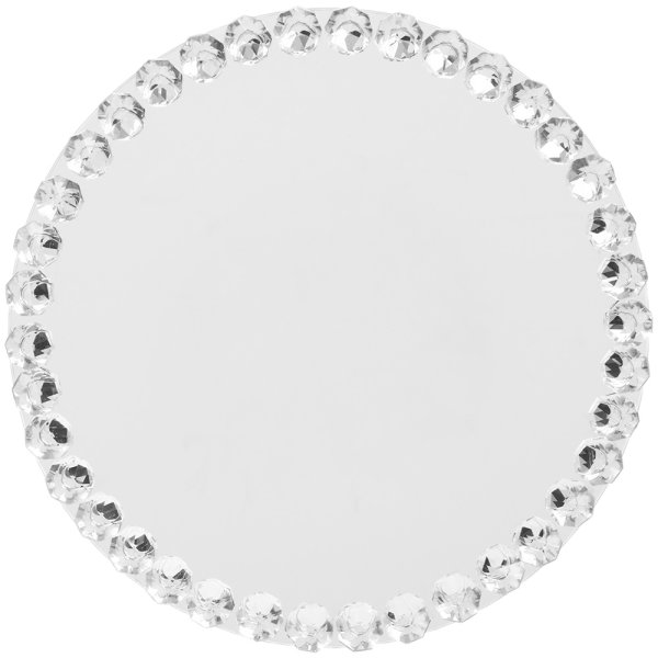 CRYSTAL MIRROR CANDLE PLT 20CM