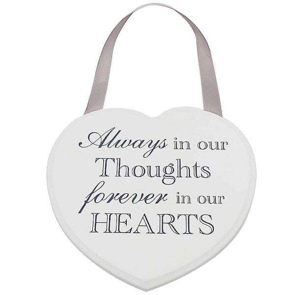 HEART PLAQUE ALWAYS FOREVER