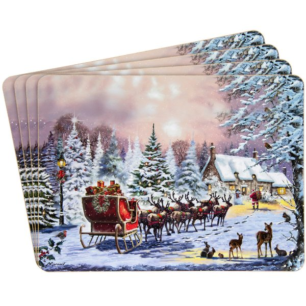 THE MAGIC OF XMAS PLACEMATS 4S