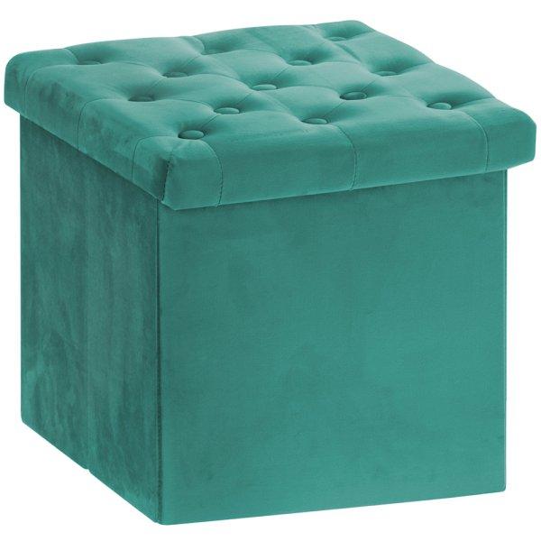 GREEN VELVET FOLDING BOX