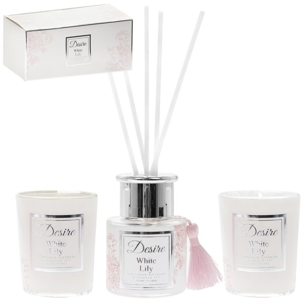 WHITE LILY 50ML DIFF/CANDLE