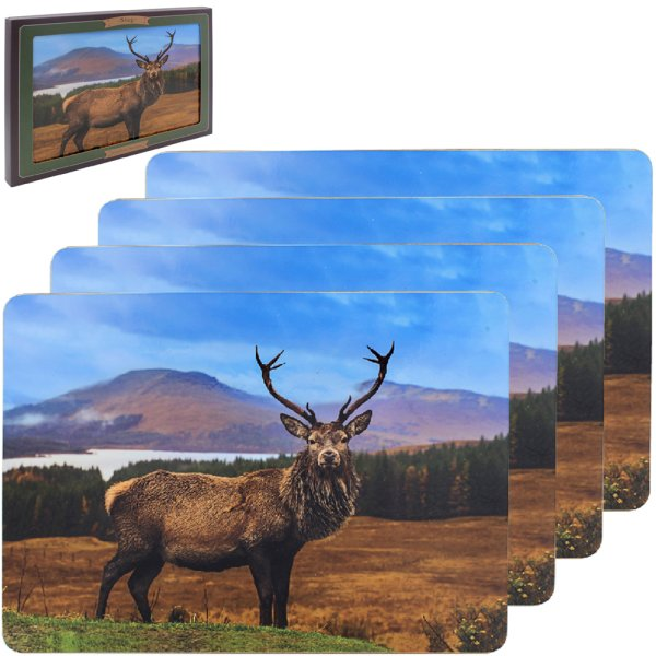 STAG PLACEMATS SET 4