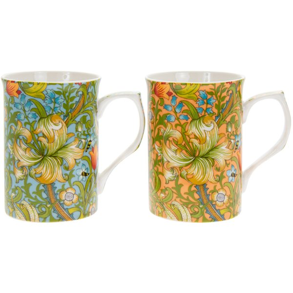 GOLDEN LILY MUGS SET OF 2