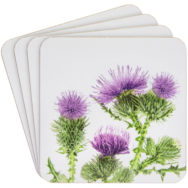 THISTLE COASTERS SET OF 4