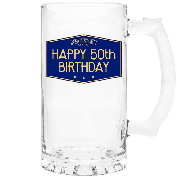 HAPPY 50TH TANKARD