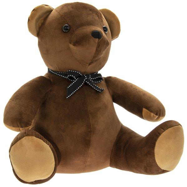 VELVETEEN TEDDY DOORSTOP