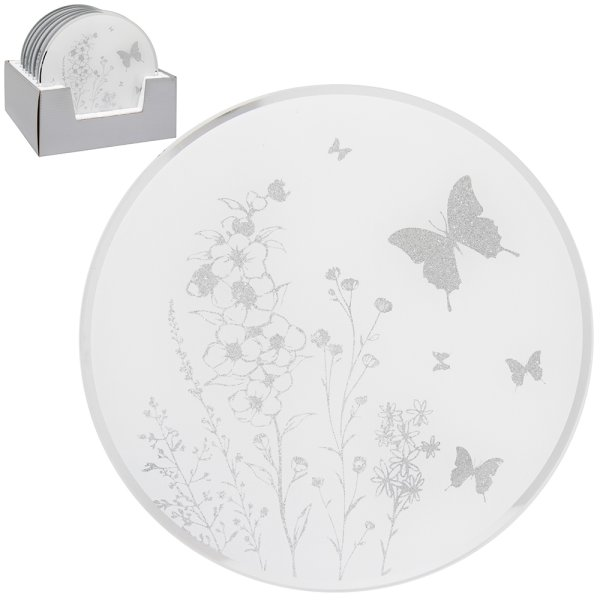 MIRROR BUTTERFLY CANDLE PLATE