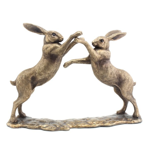 REFLECTIONS BRONZED TWIN HARES