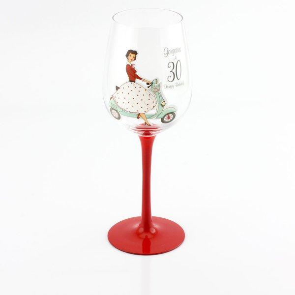 MRS SMITH 30TH WINE GLASS