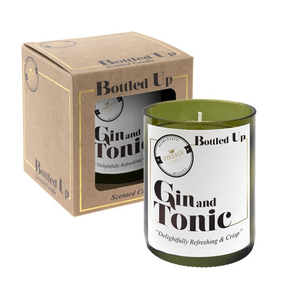 GIN & TONIC BOTTLE CANDLE