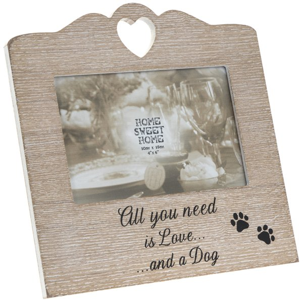 SENTIMENTS HEART FRAME DOG